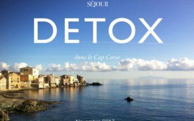 Séjour Détox dans le Cap Corse – Novembre 2017