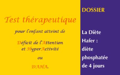 Diète HAFER (diète phosphatée)