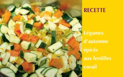 Légumes d'automne épicés aux lentilles corail