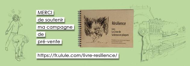 Photo campagne de financement ULULE livre RESILIENCE